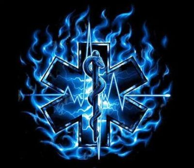 flaming star of life | Tattoo | Pinterest | Of life, Stars and Paramedics