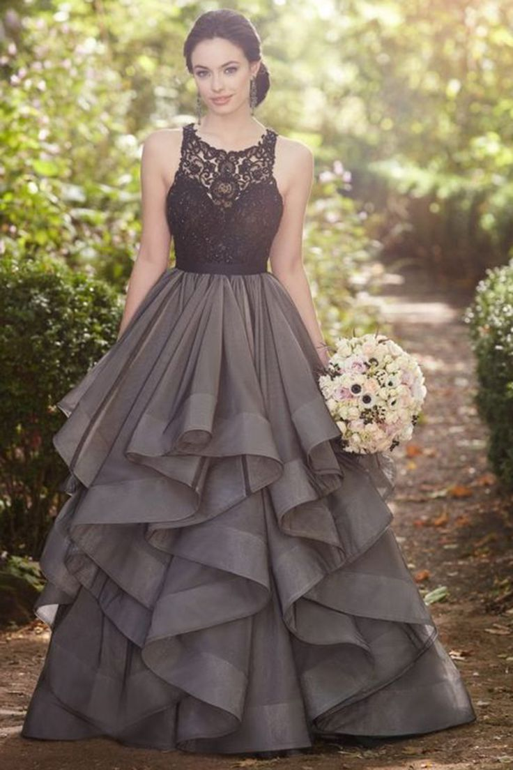 grey dresses formal dresses for weddings Beautiful grey lace organza prom dress ball gown formal dress