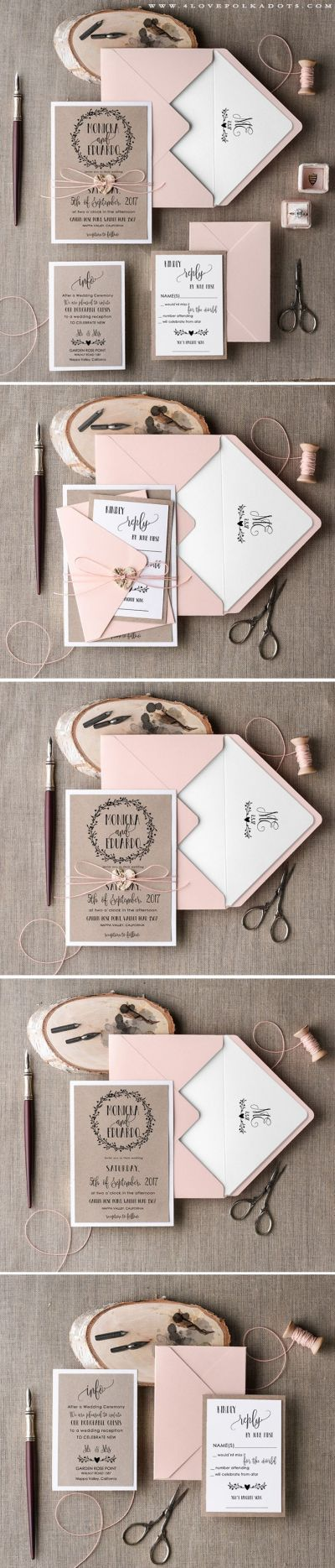 25+ Best Ideas about Handmade Wedding Invitations on ...
