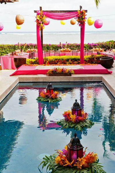 15 Pool Decor Ideas For Your Backyard Wedding | Wedding ...