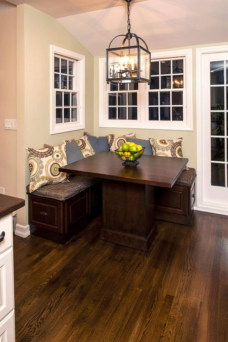 nook table bench for kitchen table 24 Kitchens with Breakfast Nooks Kitchen Table With BenchKitchen