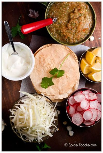 Mexican Chicken pozole recipe; How to make Pozole; receta; recipe; pozole; chicken; rojo; red ...