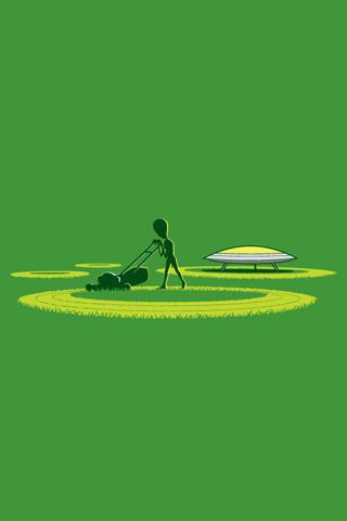 Alien Crop Circles iPhone Wallpaper HD. You can download this free iPhone Wallpaper for your ...