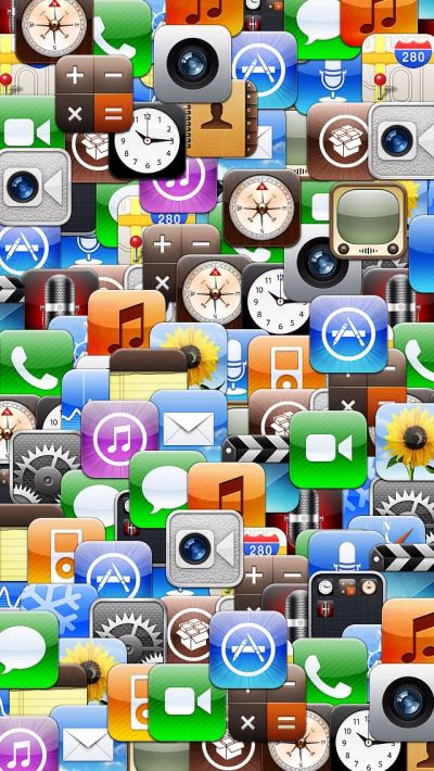 Collage of various iOS app icons. | iPhone 5 Backgrounds | Pinterest | Ios app, Icons and App icon