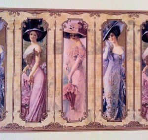 Amazon.com: Wallpaper Border Old Fashioned Victorian Ladies: Home ... | Millinery Couture