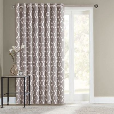 SONOMA life + style® Fret Patio Door Curtain - 100'' x 84 ...
