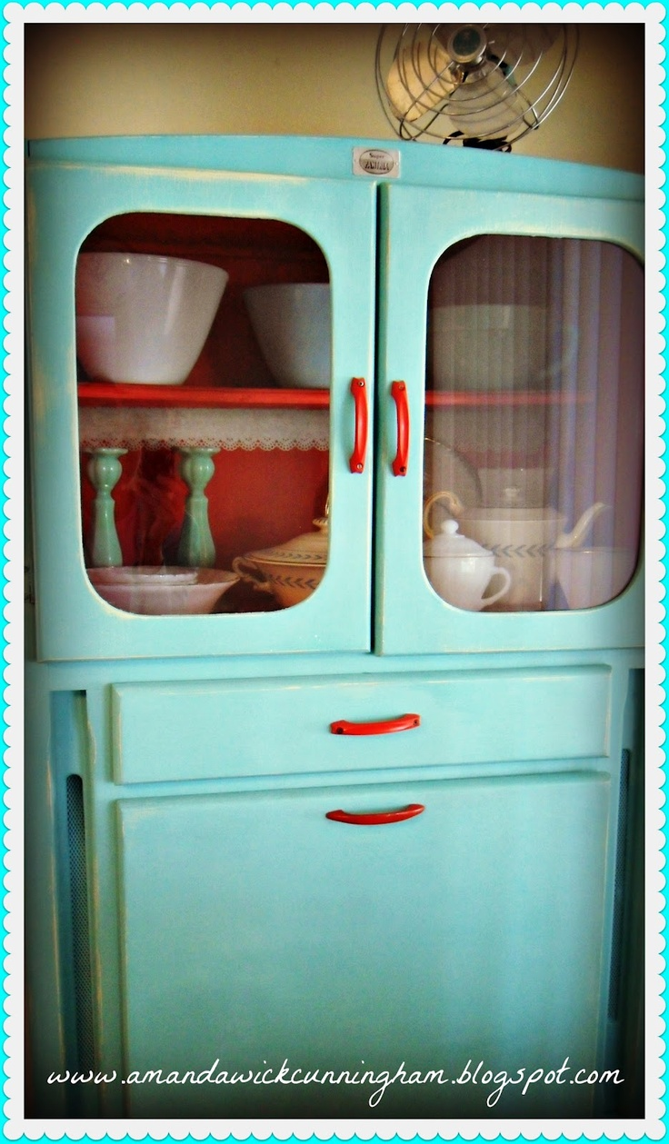 holy hoosier turquoise kitchen cabinets Hoosier Cabinet This is the same as the one we found for Sage Hers is missing a couple things We are going to paint it gray outside and another color