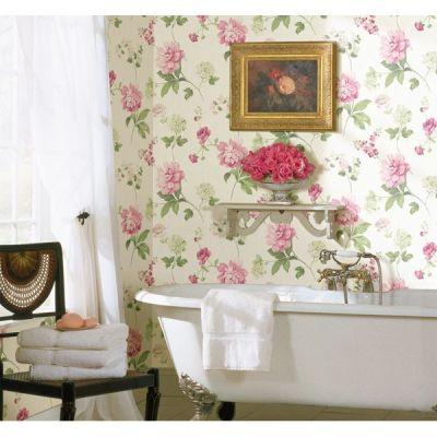 CKB77705 Neutrals Peony Wallpaper - Kitchen, Bed, & Bath by Chesapeake | Great Ideas | Pinterest ...