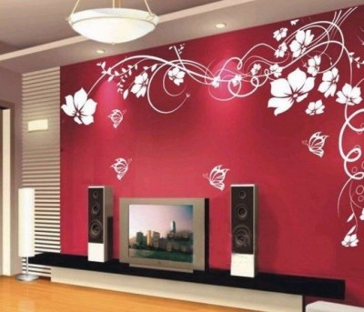 Red Living Room Wallpaper Ideas | feature walls | Pinterest | Living room wallpaper, Red living ...