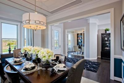 Model Home Interiors - Trim in ceiling, shelves in living room | Home Decor | Pinterest ...