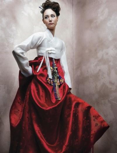 Hanbok wedding dress - Red and White!! :D | Dress ...