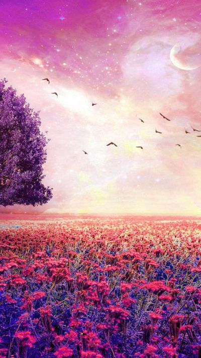 Fairy Dreamy Natural Red Garden #iPhone #5s #Wallpaper | iPhone 5(s) Wallpapers | Pinterest ...