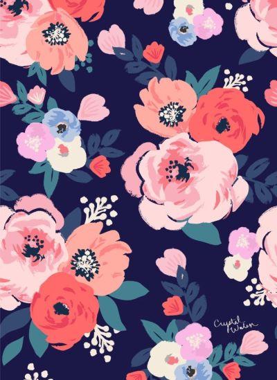 25+ best ideas about Floral patterns on Pinterest | Flower pattern design, Floral print ...
