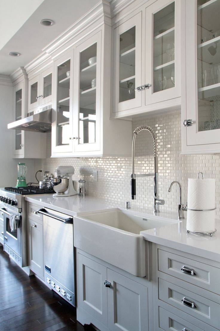 lowes kitchen cabinets kitchen floor cabinets white kitchen cabinets dark wood floors Backsplash white mini subway tile farmhouse