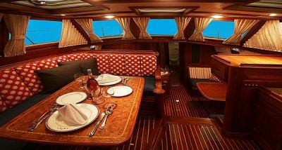 Sail Away Girl thinks this sailboat interior is WOW! Check out more at http://www.sailawaygirl ...