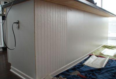 DIY Kitchen Island Upgrade {Wallpaper & Paint} | Home | Pinterest | Kitchen backsplash, Colors ...