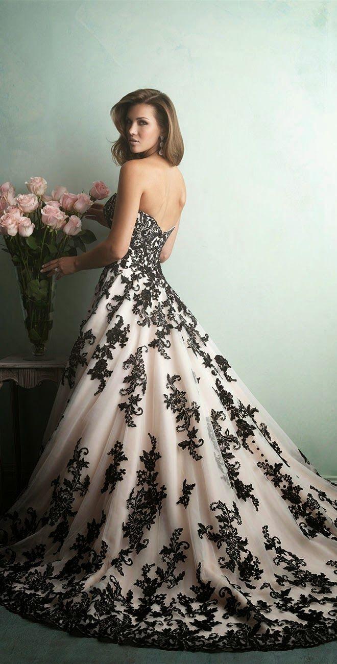 alternative wedding dresses black white wedding dress Best Wedding Dresses of