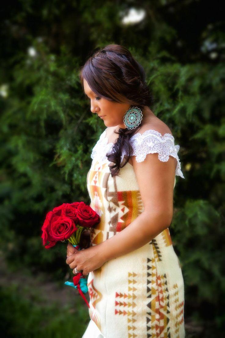 navajo wedding dress ideas native american wedding dress Navajo pendelten wedding dress i kinda like it lace kinnda throws it off See More native american