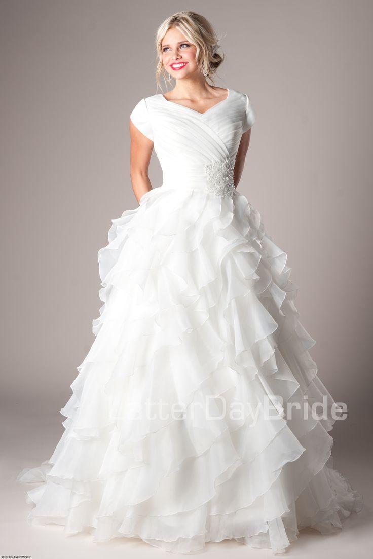 mormon wedding dresses lds wedding dresses Modest Wedding Dresses Mormon LDS Temple Marriage Casanova LDSproducts MormonProducts CTR