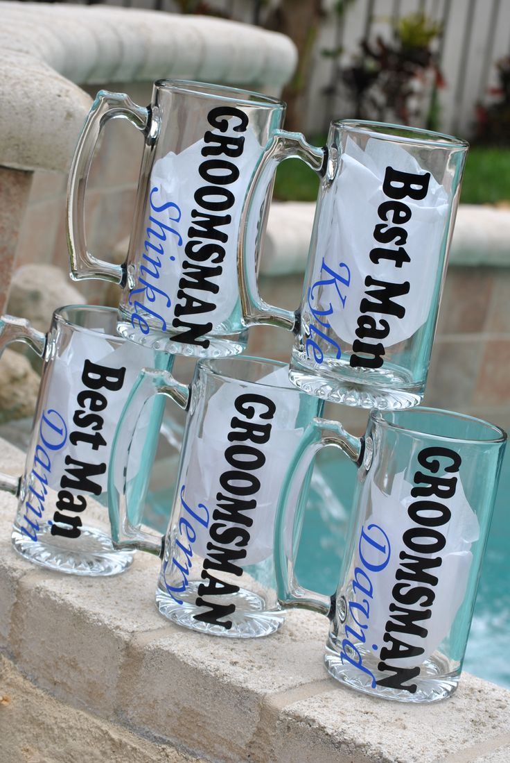 wedding gifts for parents cool wedding gifts Make your gifts special Make your life special Beer Mugs personalized for the Groomsman Check them out at Sticker Shop Unlimited engagement gift ideas