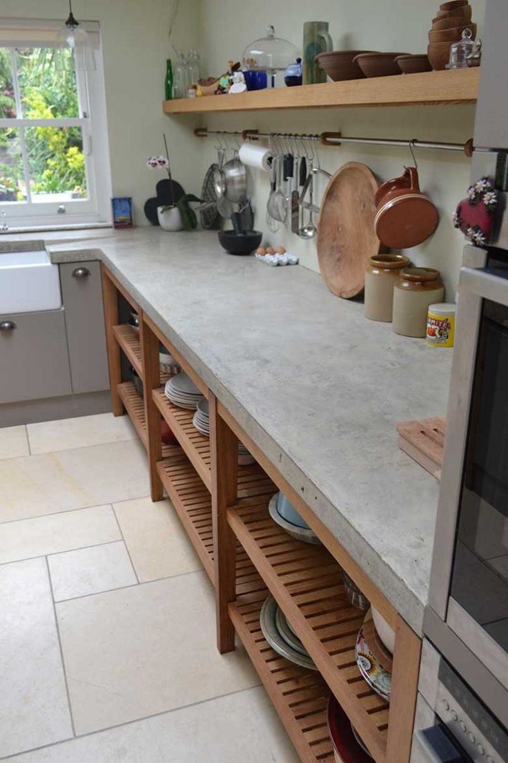 concrete kitchen countertops concrete kitchen countertops Large bespoke polished concrete worktop cast in situ with no joins