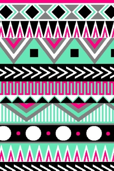 Multi-color Aztec | Cute wallpapers (CocoPPa) | Pinterest | iPhone backgrounds, Wallpaper for ...