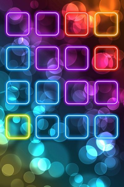 Neon iPhone 4 icon frame wallpaper | BaCkGrouNd's & WaLLpaPer | Pinterest | Beautiful, iPhone ...