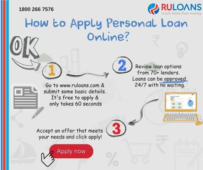 How to apply personal loan online? - Follow this simple steps! - Ruloans   Personal Loans ...