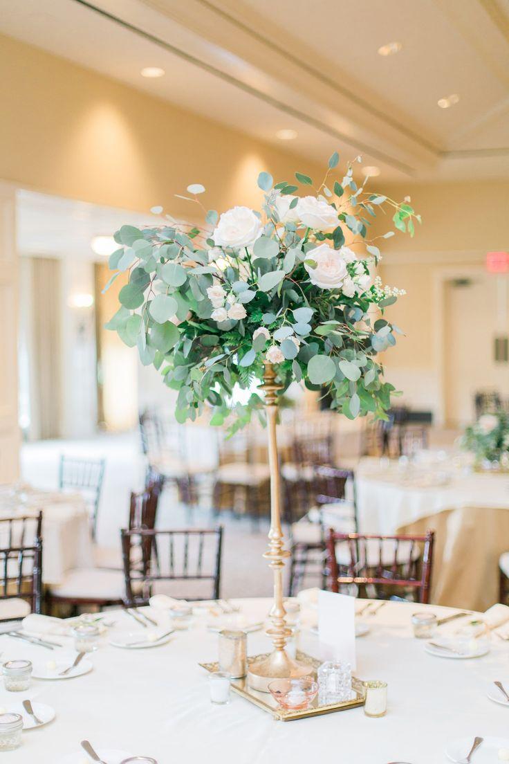 tall centerpieces tall wedding centerpieces eucalyptus and rose tall wedding centerpiece