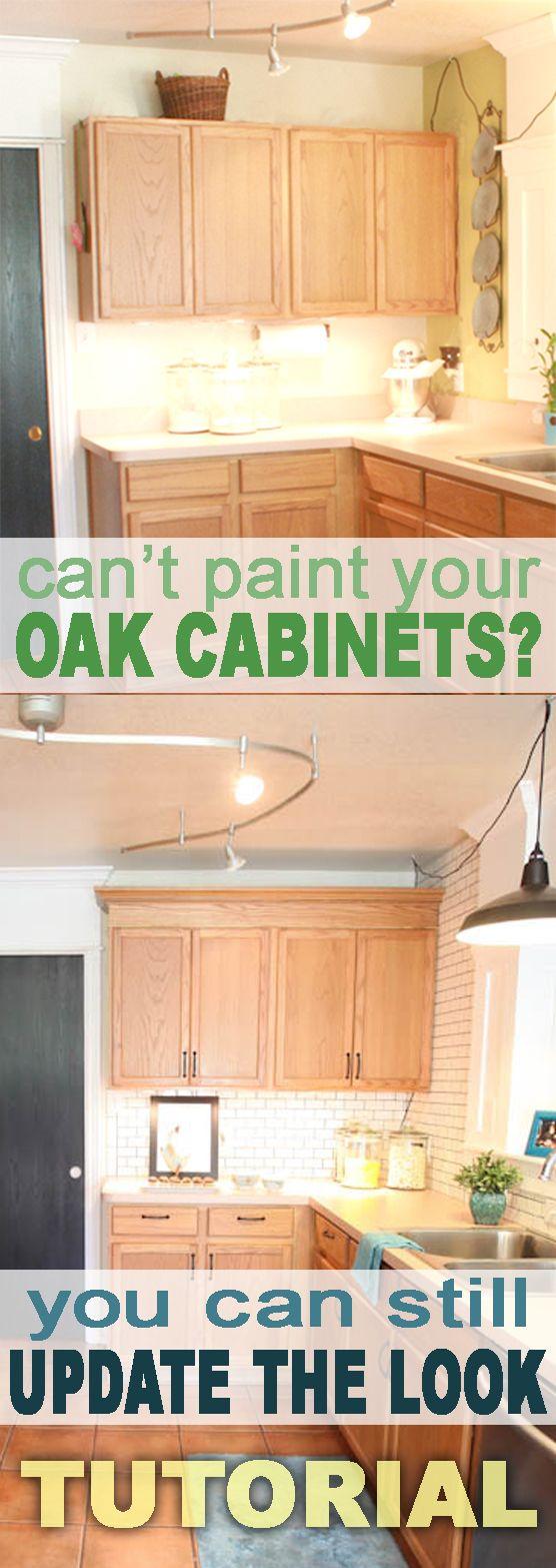 honey oak cabinets oak kitchen cabinets Update Builder Grade Cabinets Fast Without Painting Golden Oak Cabinets KitchenOak