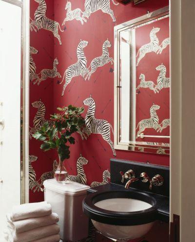 Miles Redd, Scalamandre zebra wallpaper | home | Pinterest
