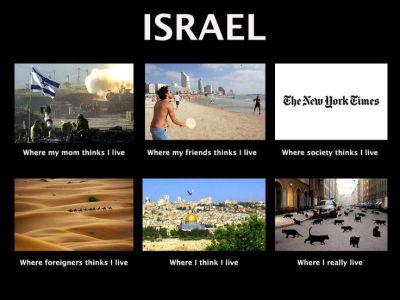 Israel - funny meme by Aussie Dave from Israellycool.