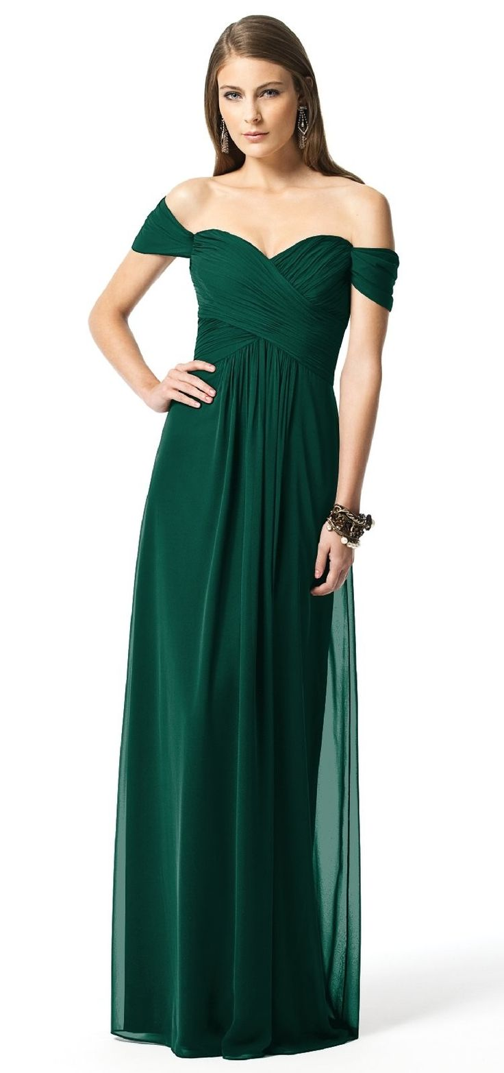 country weddings green wedding dresses Loving your dark green color idea as a possible brides maid dress color