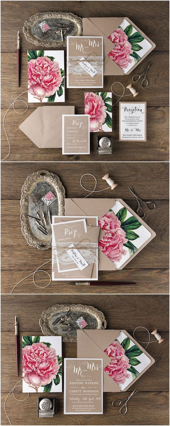 wedding invitation sets wedding invitation set 30 Our Absolutely Favorite Rustic Wedding Invitations