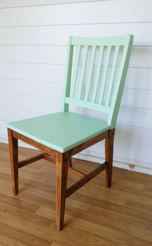 dining chair makeover teal kitchen chairs Paint just the top of your dining chairs for a fresh new look or buy