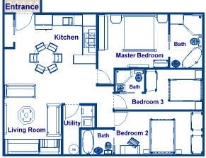 900 square foot house plans | 900 sq ft three bedroom and ...