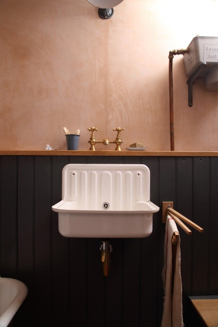 vintage sink vintage kitchen sink Trend Alert 11 Deconstructed Baths Vintage SinkBathroom