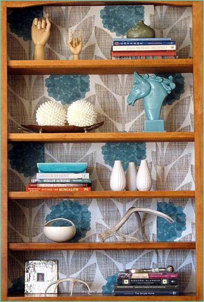 Best 25+ Wallpaper Bookshelf ideas on Pinterest   Bookcase makeover, Cheap furniture makeover ...
