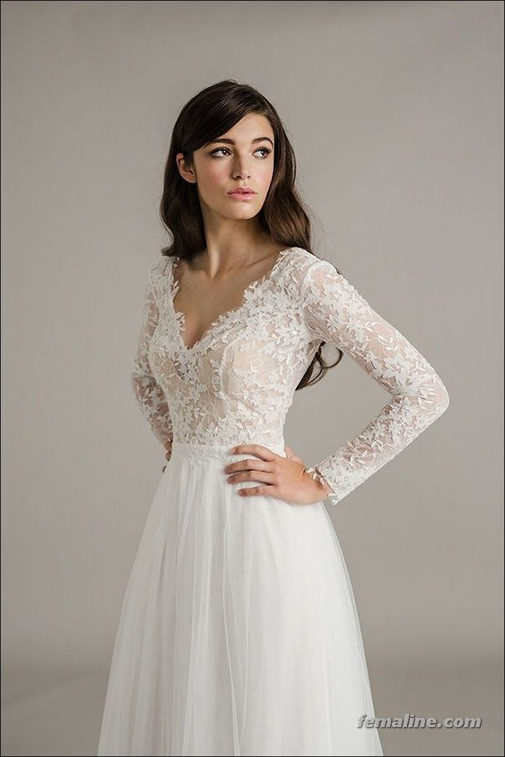 long sleeve wedding dress for a wedding Beautiful Long Sleeve Wedding Dresses