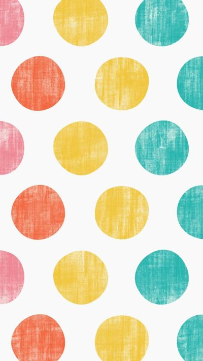 iphone 5 wallpaper - Polka Dots #pink #orange #yellow #teal #pattern | mobile wallpapers ...