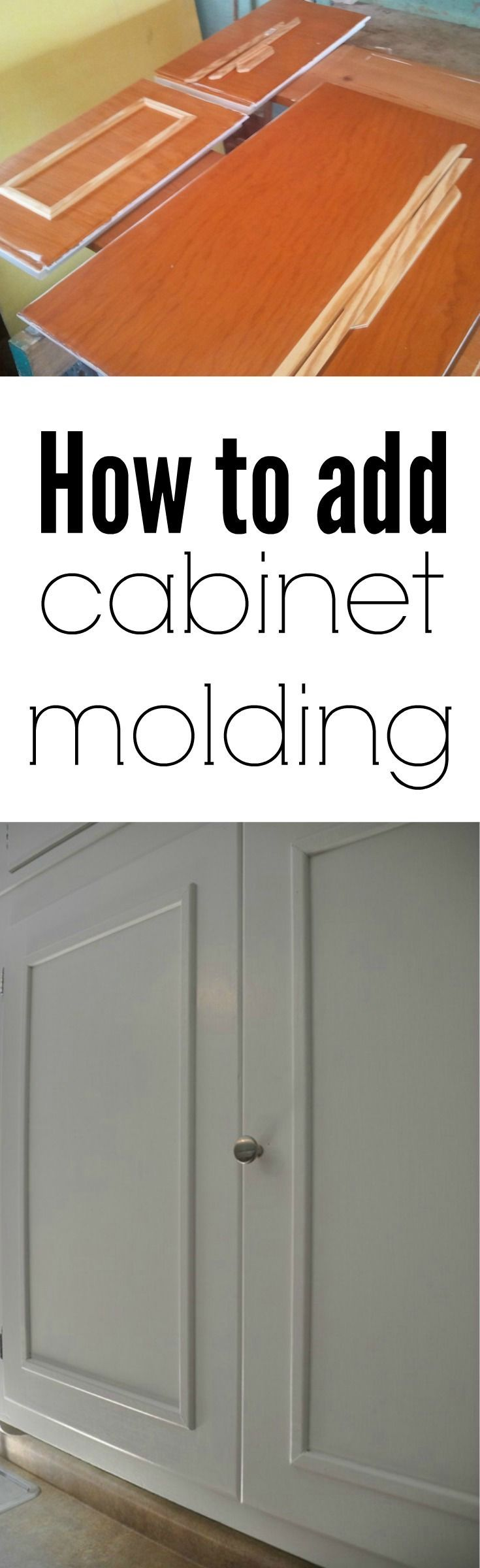 old cabinets kitchen cabinet updates How to Add Cabinet Molding