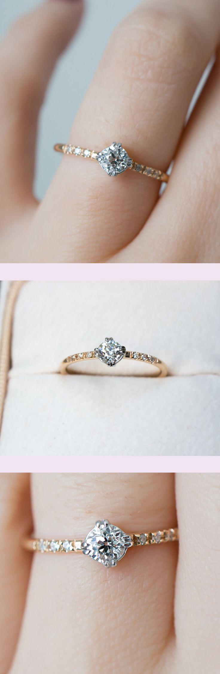 dainty engagement rings dainty wedding bands The sweetest vintage diamond engagement ring by S Kind