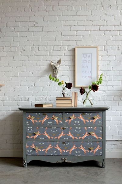 25+ best ideas about Wallpaper Furniture on Pinterest | Wallpaper drawers, Diy wallpaper and ...