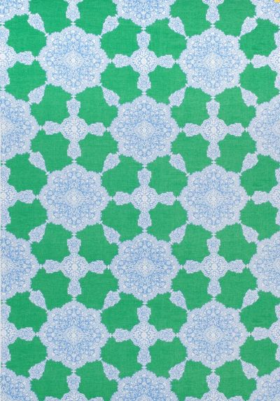 MEDALLION PAISLEY, Blue and Green, F988730, Collection Trade Routes from Thibaut   Trade Routes ...