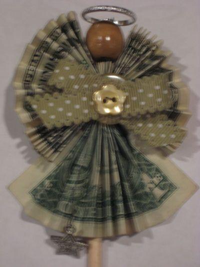 Money dollar origami angel | Dollar Money Origami ...