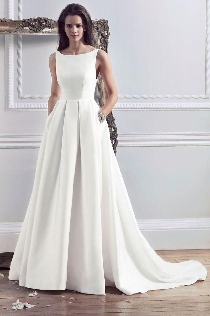 classic wedding dress dress for a wedding Wedding Dresses Caroline Castigliano