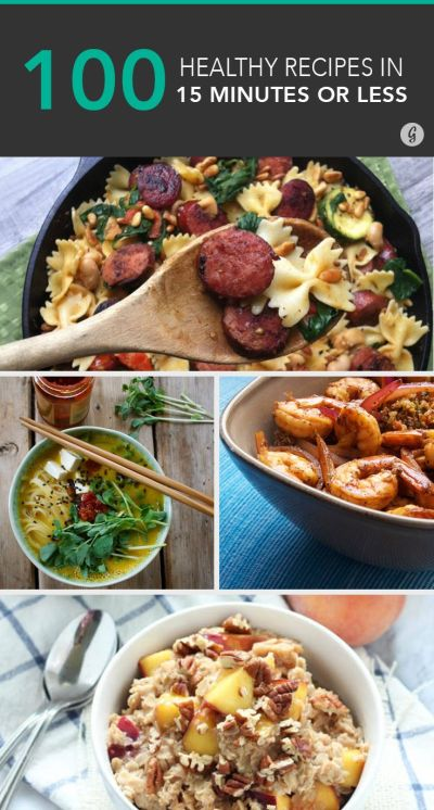 100+ Healthy Meals Made in 15 Minutes or Less | Healthy meals, Meals and Easy recipes