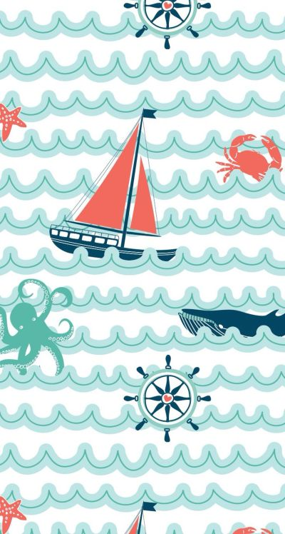 25+ best ideas about Nautical Wallpaper on Pinterest   Vintage nautical bathroom, Nautical bed ...