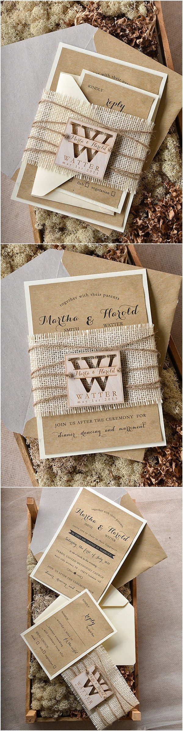 western wedding invitations skull wedding invitations rustic country burlap wedding invitations 4LOVEPolkaDots rusticwedding countryweding weddingideas