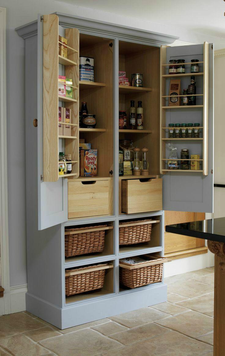 free standing pantry skinny kitchen cabinet 20 Amazing Kitchen Pantry Ideas